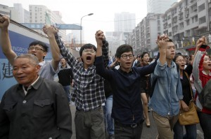 Demonstranten in Ningbo © AFP/Getty Images