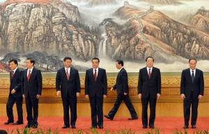 Die neue Parteiführung (v.l.) Liu Yunshan, Zhang Dejiang, Xi Jinping, Li Keqiang, Zhang Gaoli, Yu Zhengsheng, Wang Qishan ©Mark Ralston/AFP/Getty Images