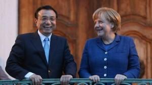 Angela Merkel und Chinas Premier Li Keqiang bei einem Treffen am vergangenen Sonntag © Odd Andersen/AFP/Getty Images