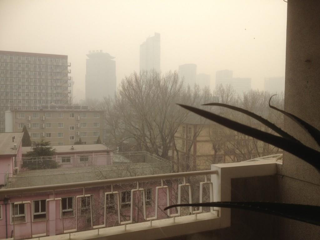 Blick vom Balkon des Autors. FOTO: Lee