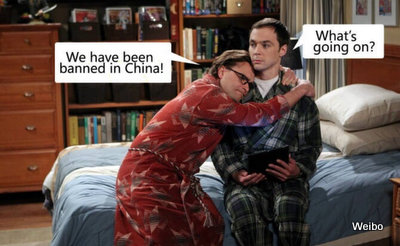Chinas Behörden verbieten The Big Bang Theory im Internet.