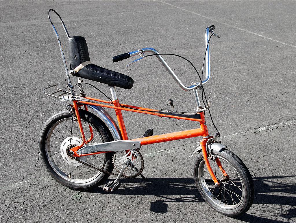 fahrrad mit bananensattel