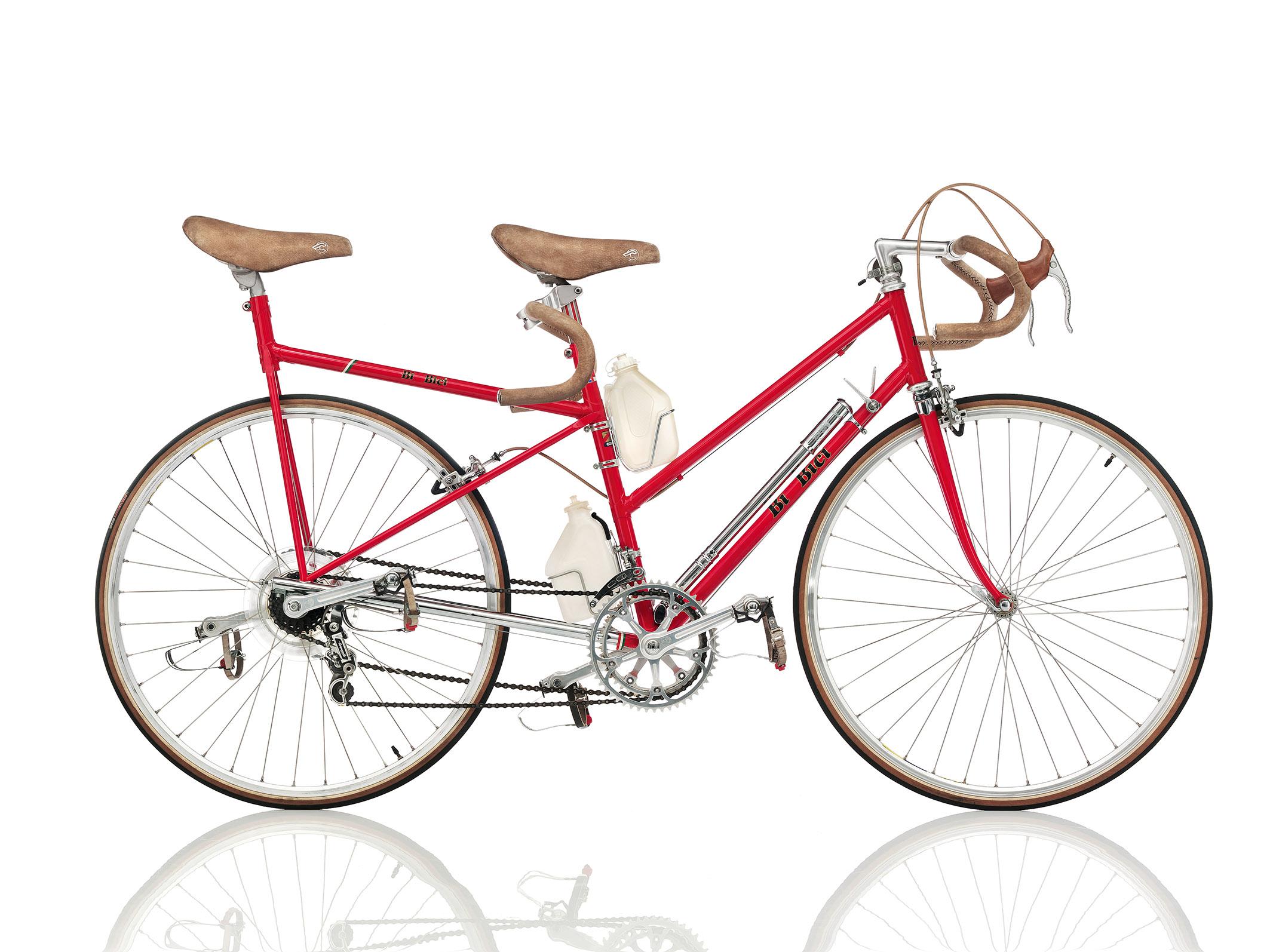 Tur Meccanica Bi Bici, ein seltenes Renntandem mit kurzem Radstand aus Italien ©  Bernhard Angerer