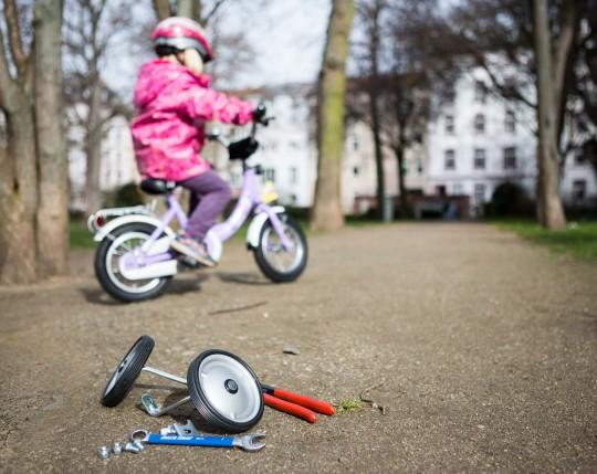 Kinderrad ohne Stützräder