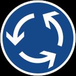 Kreisverkehr Zeichen 215