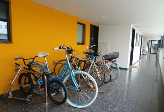Fahrradstellplätze in der Wohnanlage Bike City in Wien © Reidl