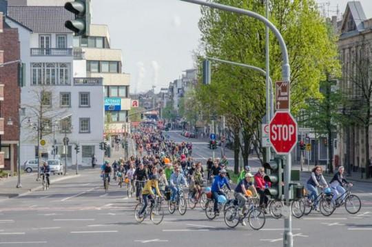 Fahrradsternfahrt in Mönchengladbach © Norbert Krause