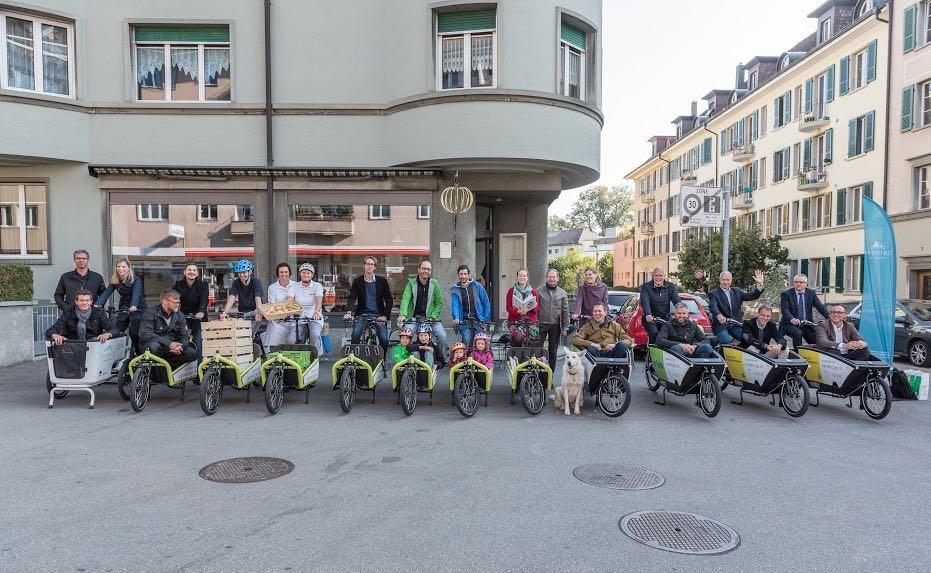 Lastenrad-Verleih startet in der Schweiz