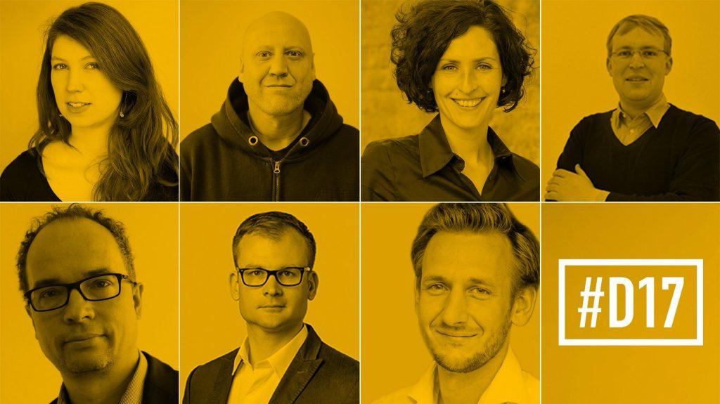 """Die sieben """"Überland""""-Reporter (im Uhrzeigersinn): Sophie Rohrmeier, Christian Parth, Doreen Reinhard, Gabriel Kords, Benjamin Piel, Daniel Gräber, Martin Debes"""