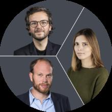 Elena Erdmann, Philip Faigle und Julius Tröger