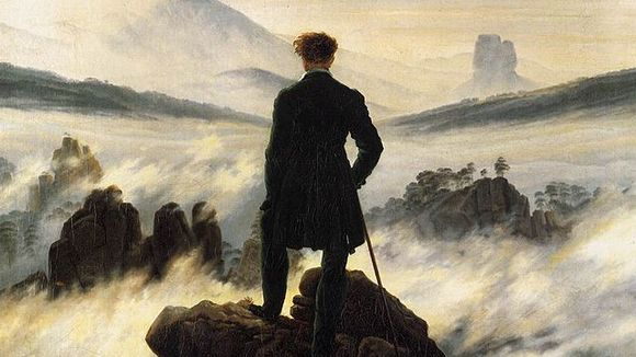 "Caspar David Friedrichs ""Wanderer über dem Nebelmeer"" @ Wikimedia Commons"