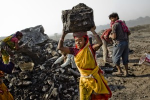 Kohlemine in Jharia/Indien, Februar 2012. Copyright: Daniel Berehulak /Getty Images