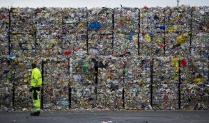 Plastikmüll auf einem Recyclinghof in Berlin, © Johannes Eisele/AFP/Getty Images