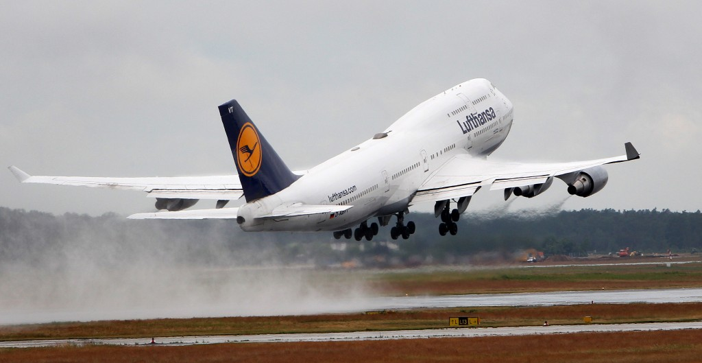 Boing 747 beim Start in Frankfurt/Main © Daniel Roland/AFP/GettyImages