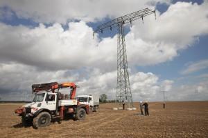 Stromtrassenbau bei Bützow nahe Rostock © Sean Gallup/Getty Images
