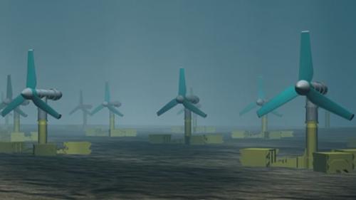 Simulation des Strömungskraftwerks  MeyGen © MeyGen