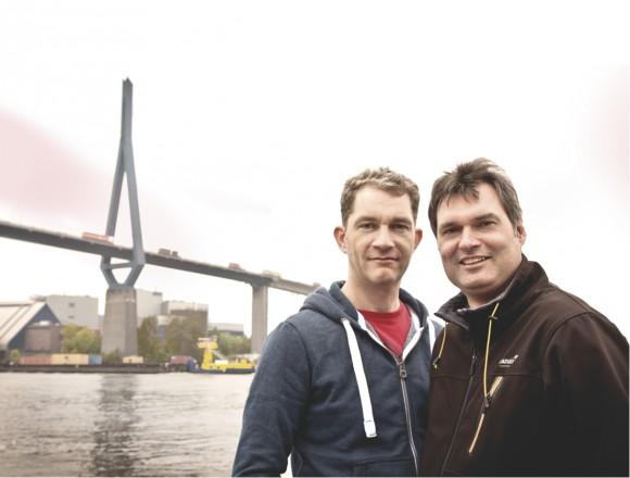Stefan Hollmann und Claus Fahlbusch von Shipcloud. | © Niels Bruchmann