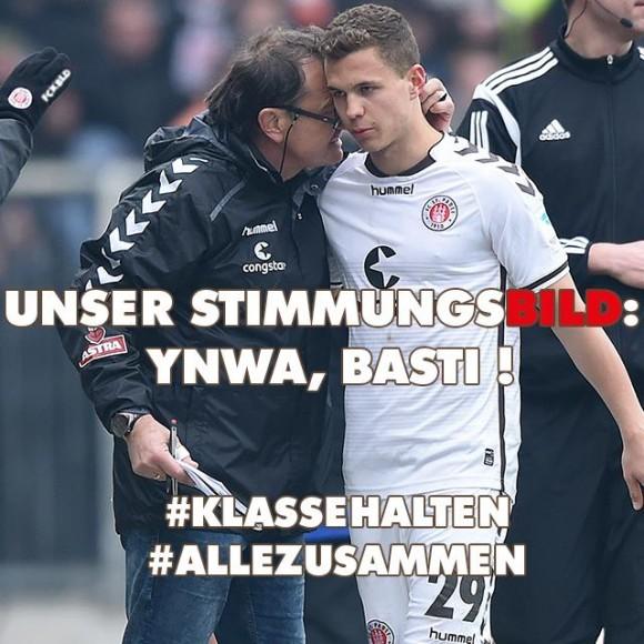 Der FC St. Pauli steht zu seinem Pechvogel. Foto: FC St. Pauli