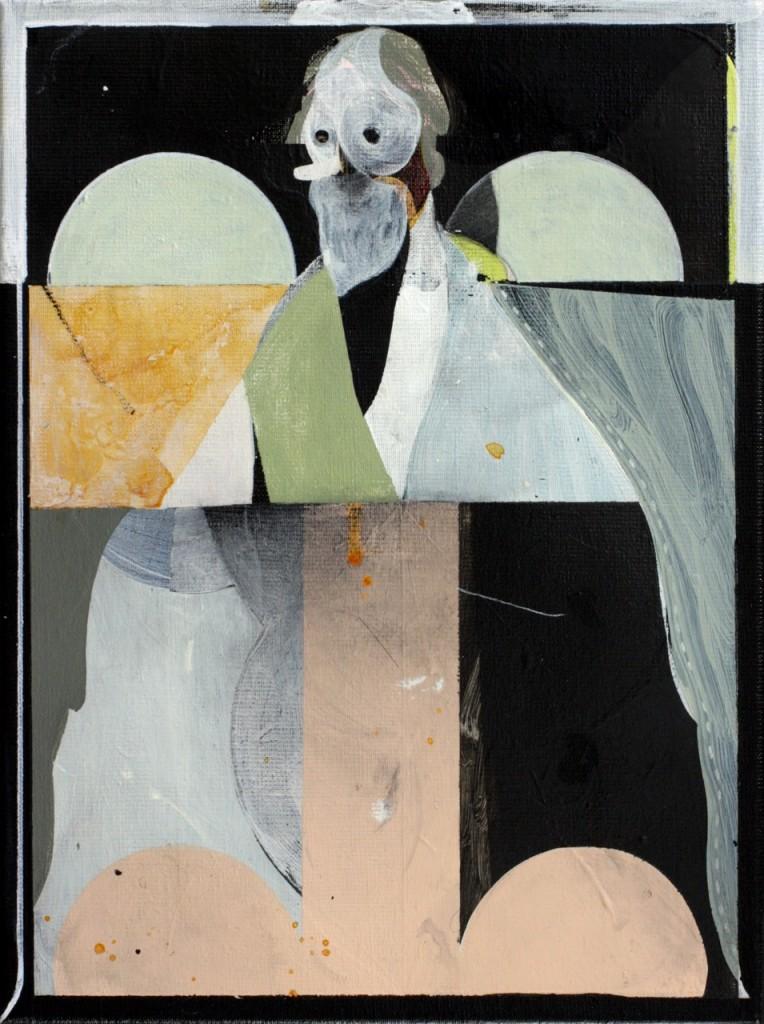 """Henning Kles: """"Steve My Queen"""", Acryl und Lack auf Leinwand, 40 x 30 cm, 2015"""