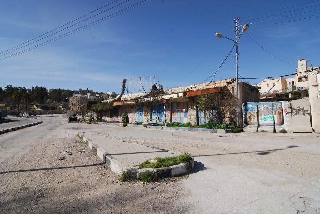 """Hebron, Stadtzentrum: """"sterile Zone"""", also unzugänglich für Palästinenser"""