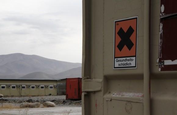 Auch diesen Hinweise werden die Afghanen ganz bestimmt verstehen.