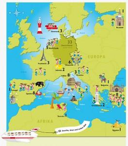 europa afrika karte