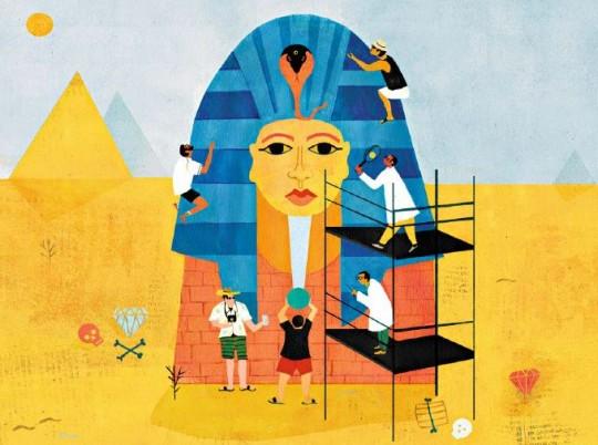 Gibt es einen Fluch des Pharao?/ Illustration: Marta Slawinska