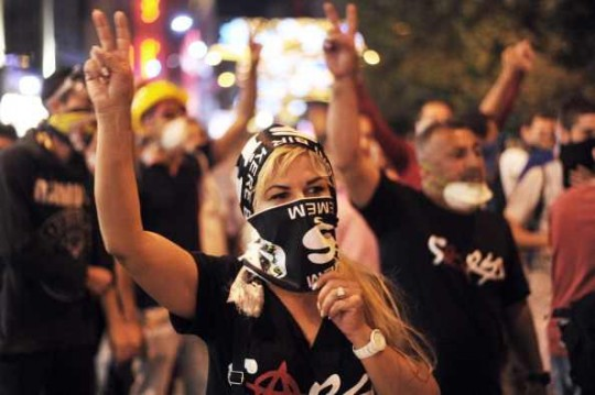 Eine Demonstrantin in Istanbul/ © Getty Images