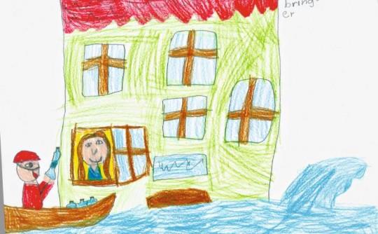 Dieses Bild hat eine Schülerin der St. Nikola Grundschule in Passau gemalt