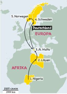 Lange Reise: Der Weg der Familie Aluko von Afrika durch Europa