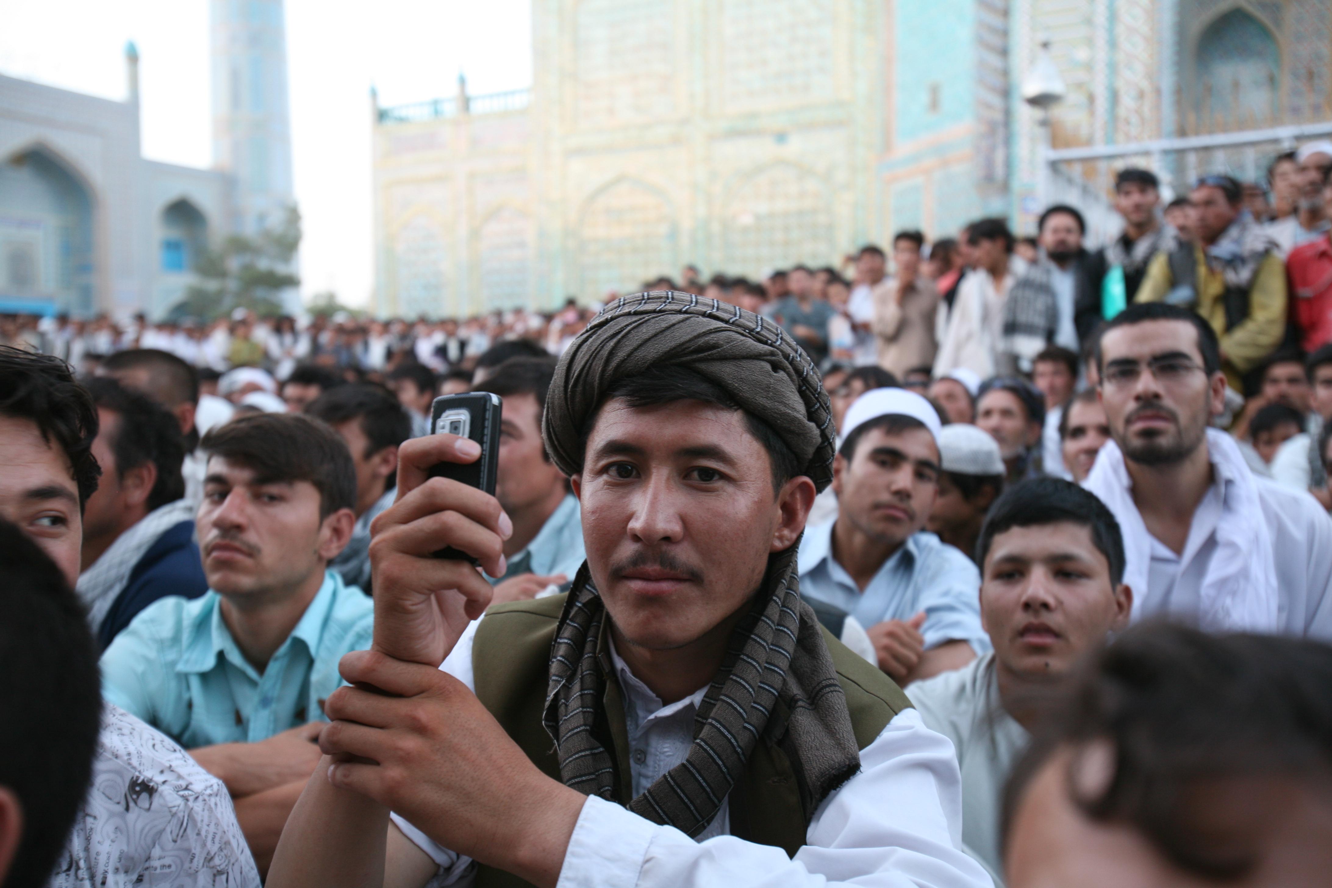Wahlveranstaltung in Mazar-e-Sharif