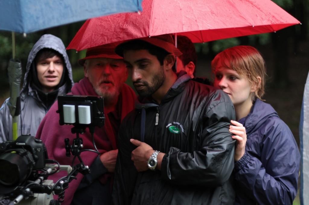 Kameramann Mantas Jockus, Darsteller Hartwig Ammann, Regisseur Anil Jacob Kunnel und Darstellerin Merly Vogt