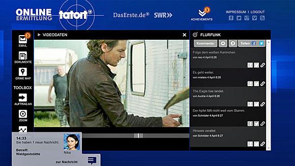 Ermittlungen im Browser (© ARD/SWR)