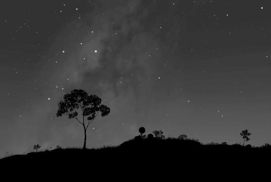 Im Sternenhimmel erkennt man Sagittarius und Skorpion (Bild: xkcd / CC BY-NC 2.5)