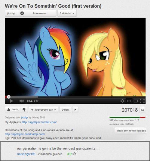 Seltener Anblick: Ein witziger YouTube-Kommentar.
