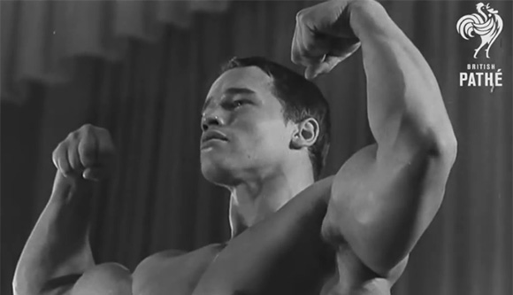 Arnold Schwarzenegger als Mr. Universe 1969 (© British Pathé)