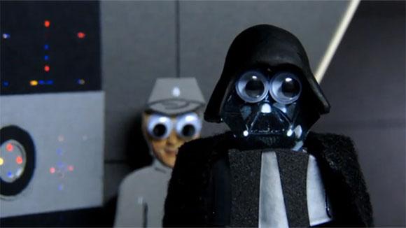 Darth Vader mit Googly Eyes