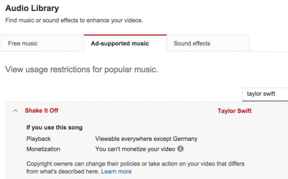 Neue Auswahlmöglichkeiten im YouTube-Backend