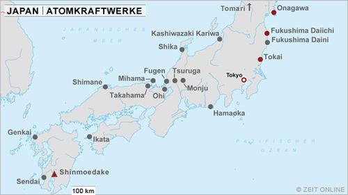 Atomkraftwerke in Japan, Fotocredit: ZEIT ONLINE