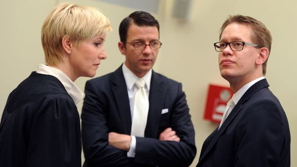 Anja Sturm, Wolfgang Stahl und Wolfgang Heer (© Tobias Hase/dpa)