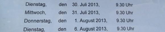 30. Juli - 6. August