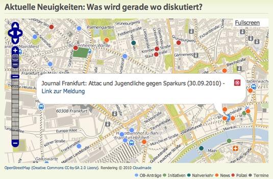 ScreenshotKarte Frankfurt Gestalten