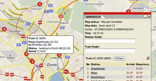 Screenshot swisstrains.ch