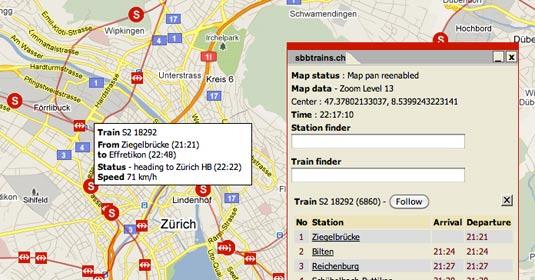 Screenshot swisstrains.ch