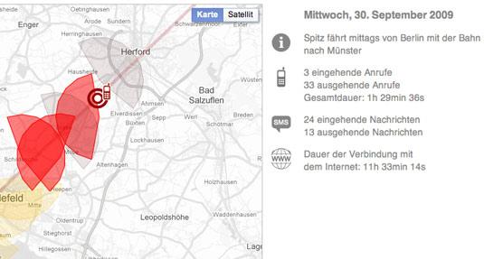 screenshot Vorratsdaten app zeit