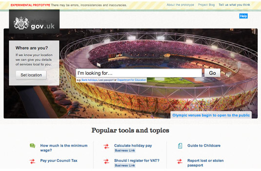 screenshot neue britische regierungswebsite