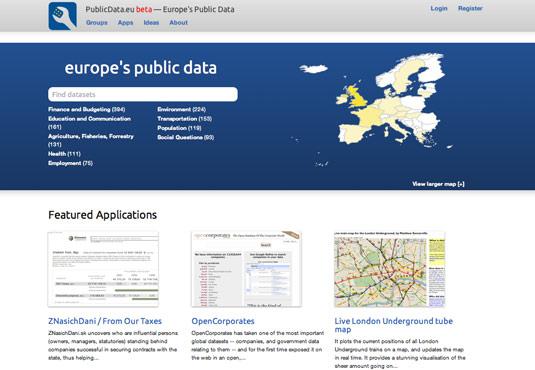 Daten, Ideen und Anwendungen Open Data EU
