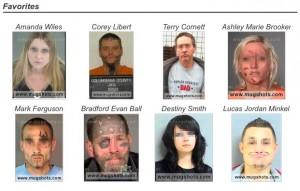 Screenshot vom mugshots.com – gepixelt von ZEIT ONLINE