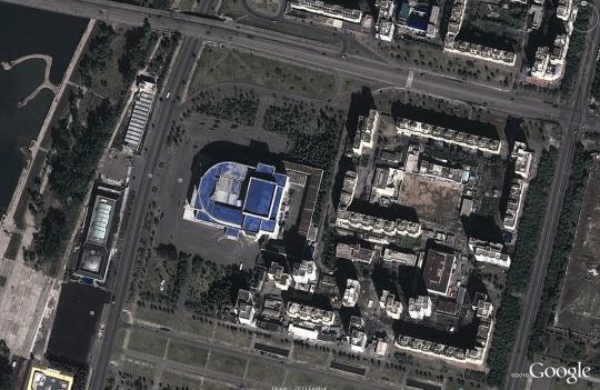 Ansicht von Pjöngjang bei Google Earth / Screenshot ZEIT ONLINE