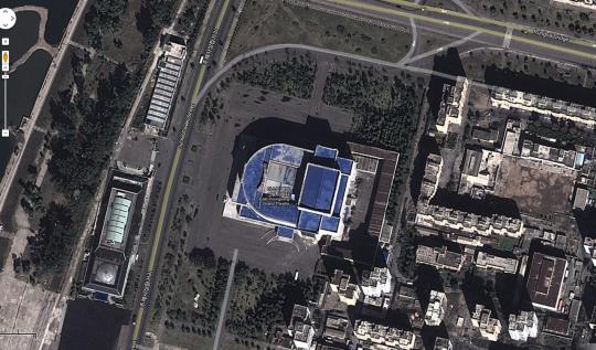 Ansicht von Pjöngjang bei Google Maps / Screenshot ZEIT ONLINE